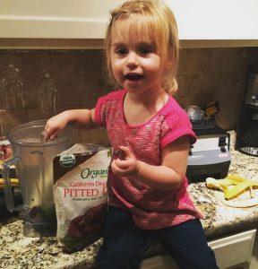 Izzy making smoothies!